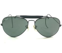 Vintage Bausch & Lomb Ray-Ban 58-14 Outdoorsman Sunglasses Black Aviators 110 - $186.99