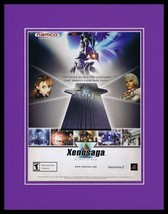 Xenosaga Episode I 2001 PS2 11x14 Framed ORIGINAL Vintage Advertisement - $22.55