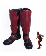 Deadpool Wade Wilson Boots Cosplay Shoes X-Men Red Boots - $36.67+
