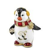 Bejeweled Crystal Enameled Winter Penguin Trinket Box - $59.99