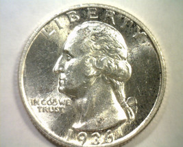 1936-S WASHINGTON QUARTER CHOICE ABOUT UNCIRCULATED++ CH AU++ NICE ORIGI... - $120.00