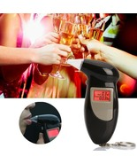 LCD Digital Display Breath Alcohol Tester with Audible Alert Keychain - $27.99