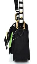 AUTHENTIC NWT KATE SPADE LEATHER MINI SCOUT BLACK OFF WHITE STRIPE MESSENGER BAG image 2