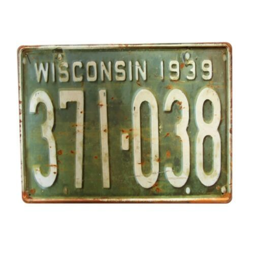 Europe Vintage Iron Car Plate Wall Hanging Decoration T56