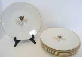 6 Salad Plates  Rosenthal China * Shadow Rose Pattern - $26.59