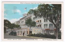 Gray Moss Inn Clearwater Florida 1931 postcard - $4.46