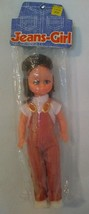 """Vintage 60s Jeans Girl Doll 11"""" NOS Overalls Jointed - $7.92"""