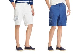 NEW Polo Ralph Lauren Chino Cargo Shorts #27 Embroidered Stars MSRP $79.50 - $40.00