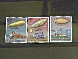 Comoros  Set of 3 Stamps MINT -Transportation.- MNH Free Shipping #700188 - $1.68
