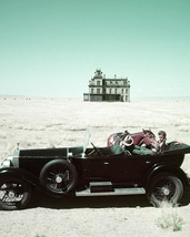 James Dean in Giant in back seat of vintage convertible car on set 16x20 Canvas - $69.99