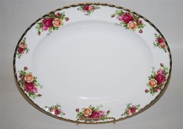 """Royal Albert Old Country Roses OVAL SERVING PLATTER 13"""" Fine Bone China ... - $91.92"""