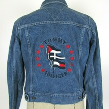 TOMMY HILFIGER Embroidered Denim Jean Jacket Womens size Small - $34.88