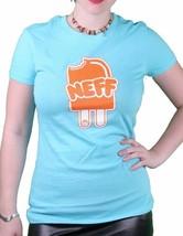 Neff Filles Femmes Neffsicle Sucette Glace Crème Tahiti Bleu ou Noir T-Shirt Nwt