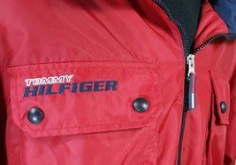 VTG Tommy Hilfiger Jacket Flag Windbreaker Colorblock 90's Spell Out XL Coat image 6