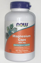Now Sports Magnesium Caps 400 mg Nervous System Support - 180 Capsules - $17.99