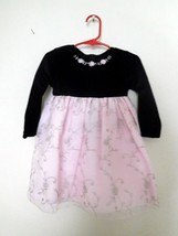DRESS Girls Toddler GOOD LAD Black Velvet Pink Embroidery Sz 2T EUC (CC) - $20.99