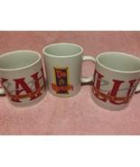 (3)   KAHLUA LIQUEUR  COFFEE MUGS / CUPS--DO A HAHLUA---FREE SHIP--VGC - $30.45