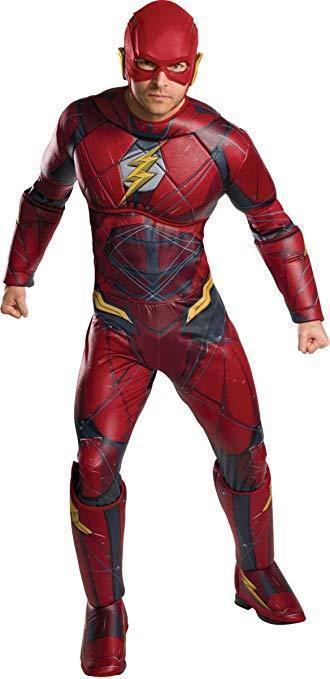 Rubini Dc Comics Flash Justice League Lusso da Uomo Adulto Costume Halloween