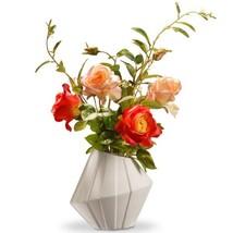 22 in. Pink Roses in Ceramic Pot - $73.24