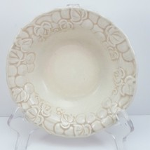 "Poppytrail by Metlox Antique Grape Berry Dessert Bowl 6-1/4"" Ivory Embossed - $6.77"