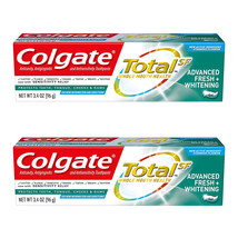 2-Pack New Colgate Total Advanced Fresh + Whitening Gel Toothpaste, 3.4 ... - $13.99