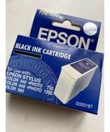 Epson S020187 Black Ink Stylus Color 440, 640, 660, 670 Stylus Photo: 750, 1200 - $19.75
