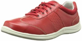 ROCKPORT Women's XCS Walk Together Red Sneaker Lace Up Shoes Windchime 5.5W - $49.49