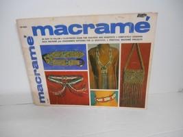 "Vintage 1970's~""Macrame"" Instruction Booklet for 21 Projects: Belts/Neck... - $7.95"