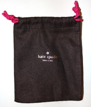 Gold Kate Spade New York Brown Pink Draw String Cloth Jewelry Pouch Pre-... - $3.97
