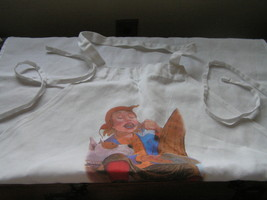 Large White Cotton Scholastic Pancakes for Supper Apron Made in Pakistan - $9.85