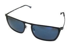 Police Mens Sunglass Matt Black Rectangle Metal, Flash Lens, SPL155 599B - $89.99