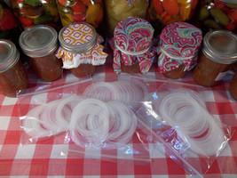 1 dozen food grade silicone mason jar lid gaskets - $7.99