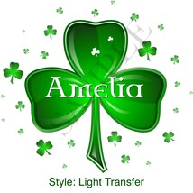 St. Patrick's Day Clover Iron-On Transfer - Personalized - $4.00+