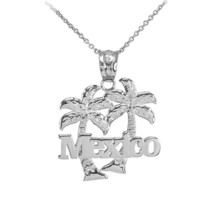 """Sterling Silver """"Mexico"""" Palm Trees Pendant Necklace - €18,02 EUR+"""