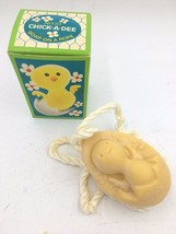 Vintage Avon Chickadee Chick Kids Easter Egg Soap on a Rope New in Box U... - $14.95
