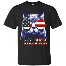 Funny Meowica Freedom Cat T-Shirt - Cool 4th of July Shirt - ₹1,574.70 INR+