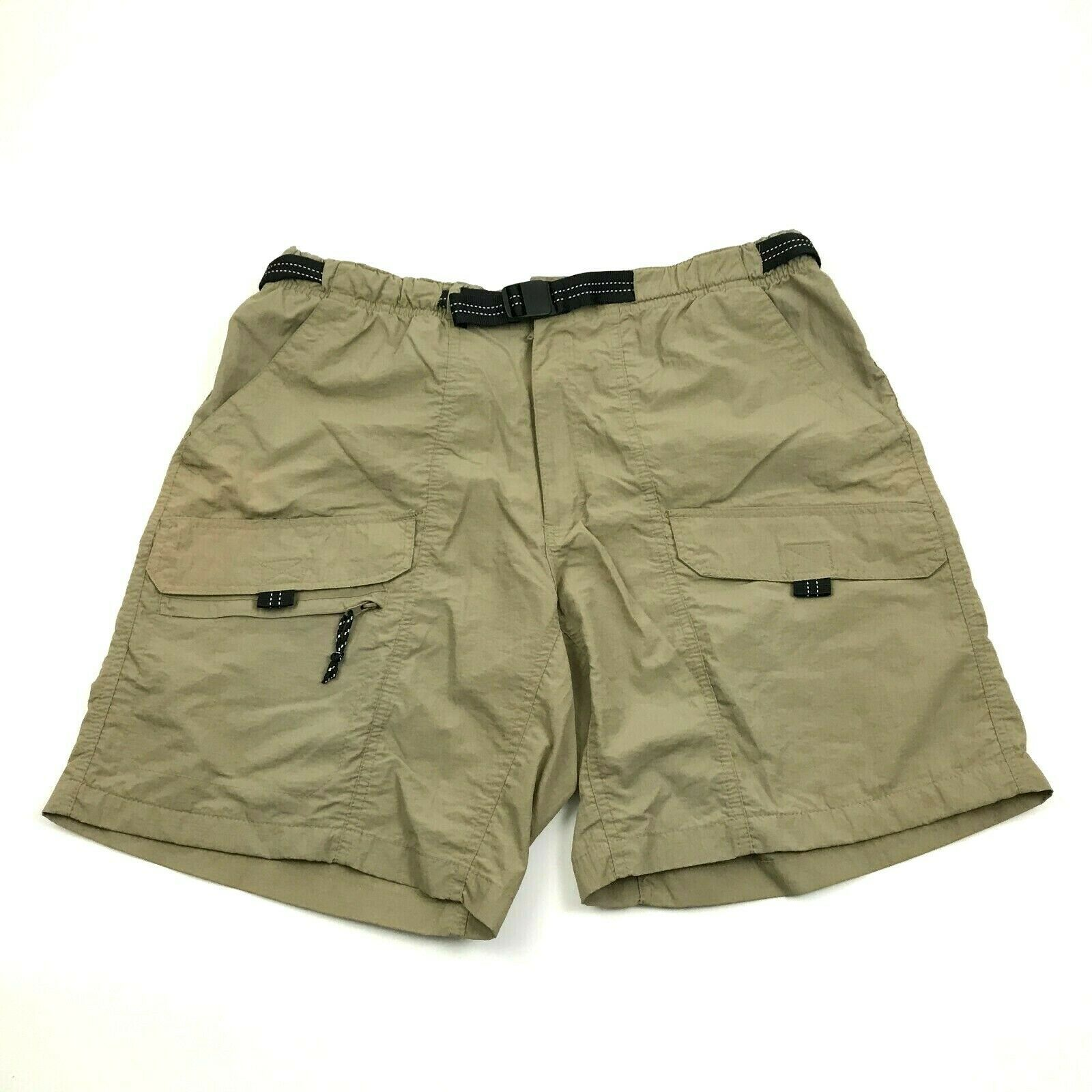 Primary image for Rugged Exposure Hybrid Cargo Shorts Size 34 Waist PACKABLE Nylon WATER RESISTANT