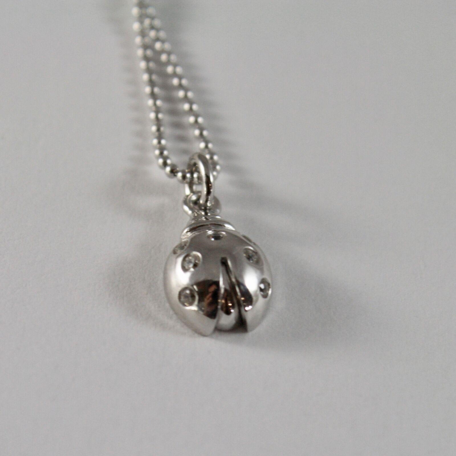 Silberkette 925 Jack&co mit Kugeln Glänzend und Marienkäfer Emailliert 45 CM image 6