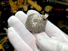 MEXICO 1733 KLIPPE 8 REALES PIRATE GOLD COINS TREASURE PENDANT JEWELRY N... - $2,195.00