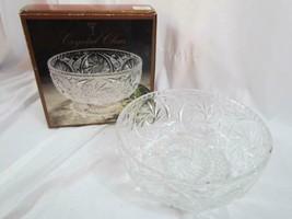 "Vintage Crystal Clear Footed 8.5"" Diameter 24% Lead Crystal Handcut Bowl - $23.74"