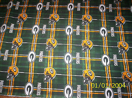 New NFL Officially Licensed Green Bay Packers Flannel Fabric by the 1/2 ... - $5.94