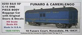 Funaro & Camerlengo HO B&O C-15 50' Baggage original door ONE PIECE BODY Kit 825 image 1