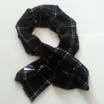 "POLO Ralph Lauren Men 100% Cashmere Scarf 65"" long 16.5"" wide Plaid Prin... - £36.63 GBP"