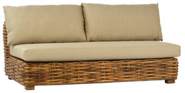 Outdoor Patio Sofa Furniture Daybed w/Foam Cushions Wicker Rattan,63''L ... - $988.02