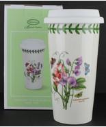 Portmeirion Botanic Garden Ceramic Travel Mug with Silicone Lid, Sweet Pea - $37.62