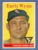 Vintage MLB 1958 TOPPS #100 EARLY WYNN (HOF) VG-EX  - $19.50