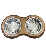 Boomer N Chaser BNC-14020 Pet Double Diner Bowl Stainless Steel Snap In - $15.35