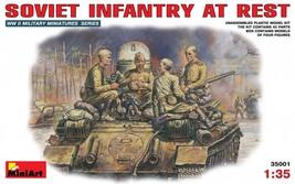 Miniart Models - 35001 - Soviet Infantry At Rest 1943-1945 - $12.99