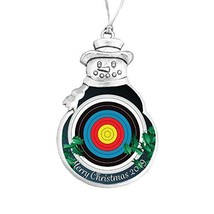 Holly Road Archery Target Field 3D 2019 Christmas Silver Ornament Choose... - $14.84