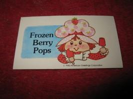 1983 Strawberry Shortcake Housewarming Surprise Board Game Part: Recipe Card #12 - $1.00